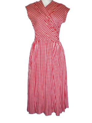 vintage 1940s gingham rayon dress buy vintage 1940s