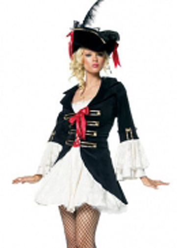 Pirate Black-White Costume