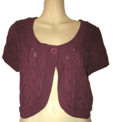Buy Dorothy Perkins Purple Cardigan Shrug Bolero