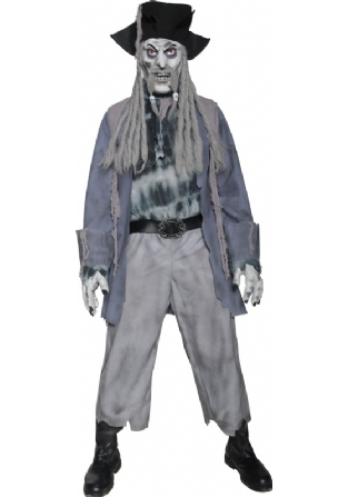 Buy Zombie Ghost Pirate Costume
