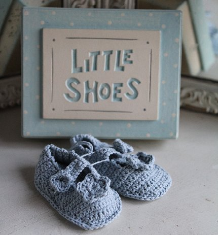 Buy Baby Boy's Crochet Shoes by East of India