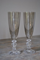 Smoke Champagne Flutes - Pair