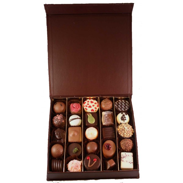 Buy Brown Book Style Box 16 Chocolates - Carrick's of Penrith