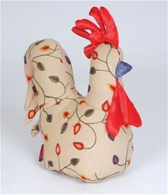 Buy Leaf Embroidery Chicken Doorstop