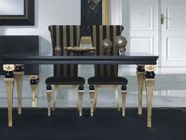 Magnus Luxury Black & Gold Dining Table — Buy Magnus Luxury Black ...