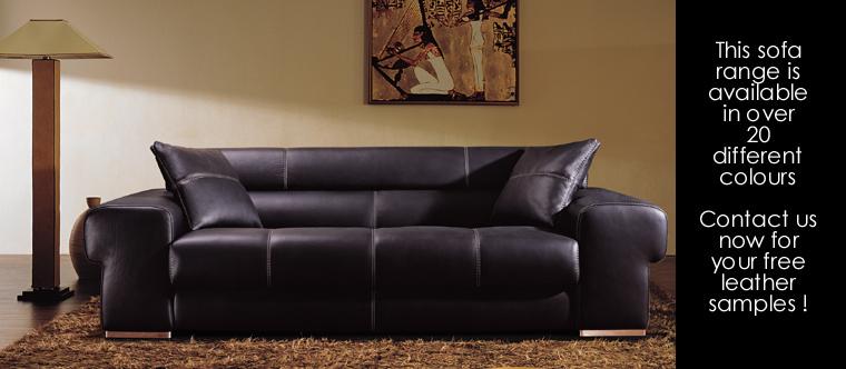 Napoli 3 Seat Italian Leather Sofa