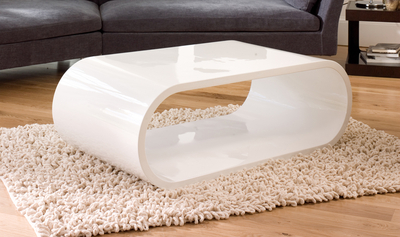 Oval Gloss Coffee Table White ...