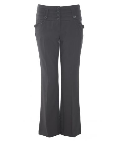 Buy Black 31 Inch 4 Button and Tab Trousers