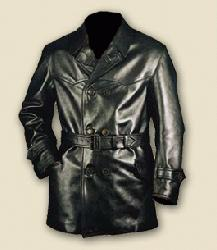 German WW1 3/4 Length, Black Leather Flying Coat