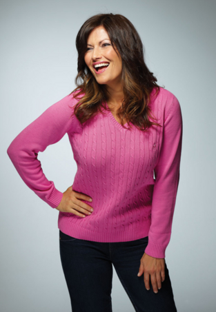 Buy Classic Cable V-Neck Jumper