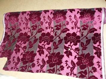 Buy Fabrics - Cerise/Plum raised chenille