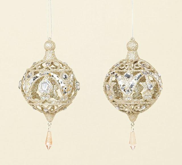 Buy Gold Glitter and Diamante Drop Ball