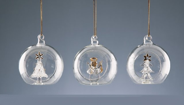 Buy 8cm Glass Ball with Ornament