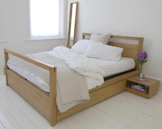 Buy Kingsize Oak Storage Bed High End
