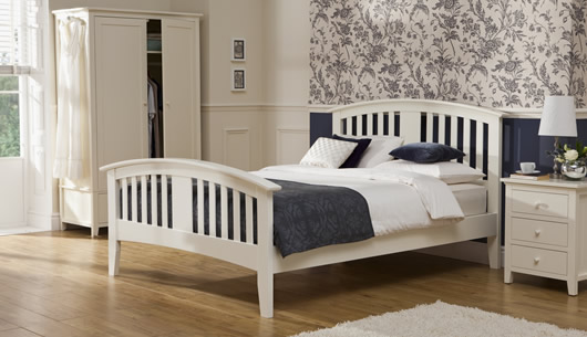 Morning Mist Alabaster White Double Size Bed Frame — Buy Morning ...