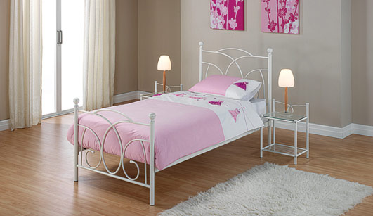 Lily Off White Single Bedstead