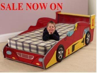 Buy Boys Racing car bed
