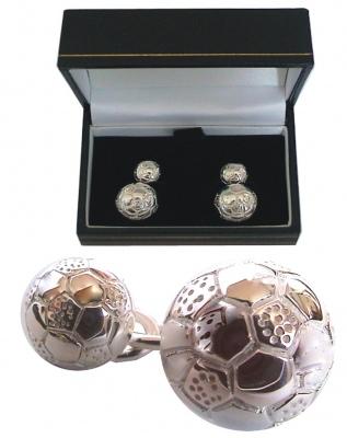 Buy Football Silver Cufflinks