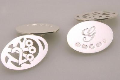 Silver Chain Cufflinks