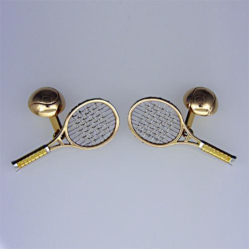 Buy Tennis racquet cufflinks