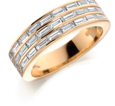 Buy 18ct Gold & Baguette Diamonds Eternity Ring