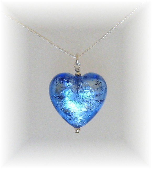 Buy Sapphire heart necklace