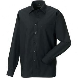 Buy Russell Collection Poly-Cotton Easy Care Poplin Shirt
