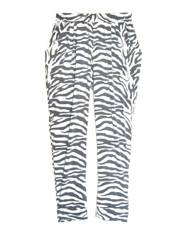 Sustainable Zebra Print Slouch Trousers