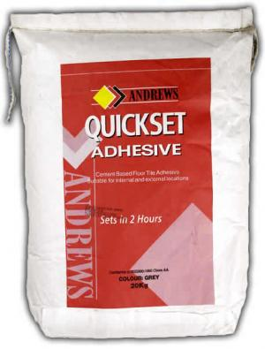 Buy Andrews Quickset Floor Tile Adhesive