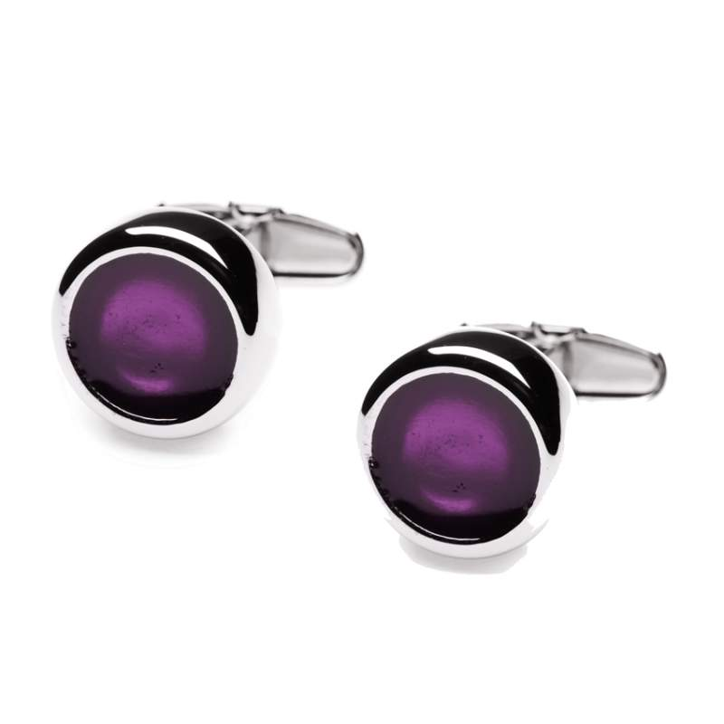 Cufflinks Polo Purple Jewel