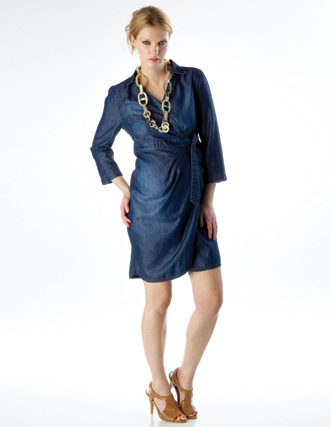 Buy Denim Wrap Dress