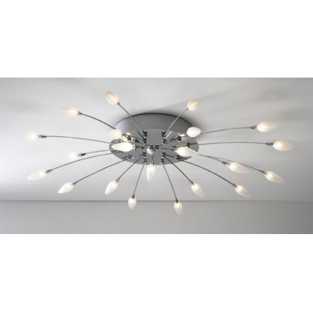 modern ceiling light flush fitting dar ast60 asteroid 21 light