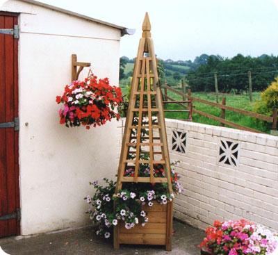 Buy Bespoke Pyramid Shaped Garden Trellis