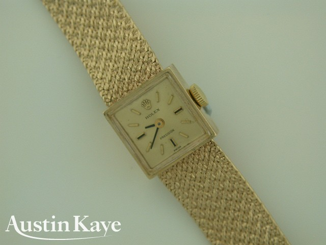 Ladies Rolex Manual Wind 9ct Gold on Bracelet