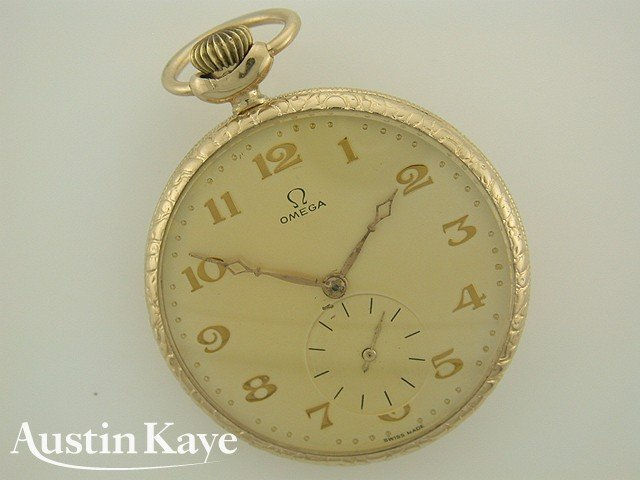 Omega Pocket Watch Rolled Gold Manual Wind