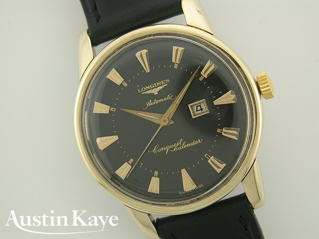 Gents Longines Conquest Calender Automatic Gold Capped on Strap