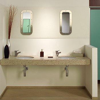 Slabb - solid surfacing vanity units