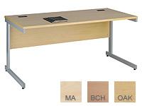 Buy Cantilever rectangular w/station 1200x800, birch/silver