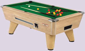 Supreme Winner Oak Electronic Coin Mechanism Pool Table Buy In Leeds - Electronic pool table