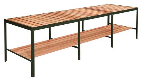 Green Aluminum & Red Cedar Staging