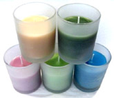 Aromatic Candles In Frosted Glass