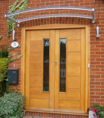 Arched Contemporary Door Canopy