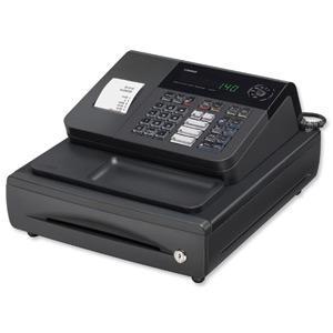 Buy Casio Cash Register 7 Segment x 8 Digit 120 PLUs 20 Departments 2.4 lines/sec W330xD360xH203mm Ref 140CR