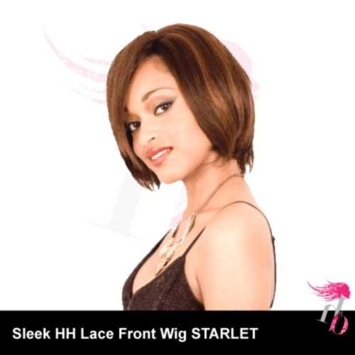 Sleek Human Hair Lace Front Wig