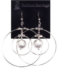 Jinny's Double Circle Hanging Earrings