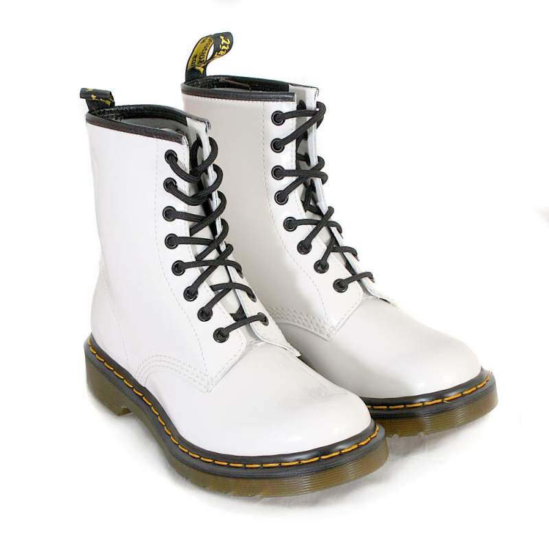 Dr. Martens white patent boot, Chesterfield
