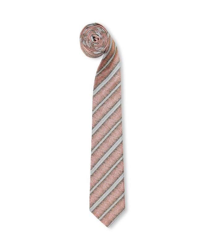 Rust Broken Stripe Tie