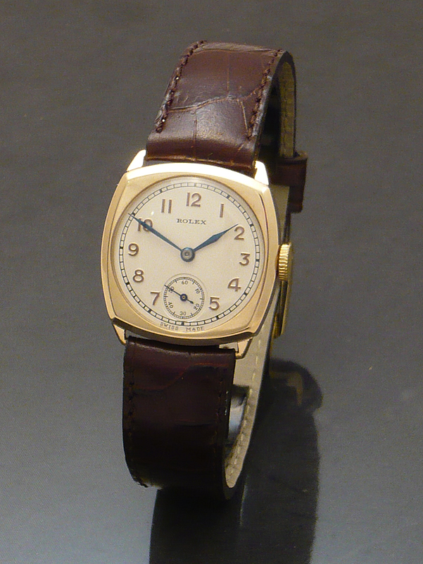 Buy Rolex 1930s 9ct gold cushion Watch