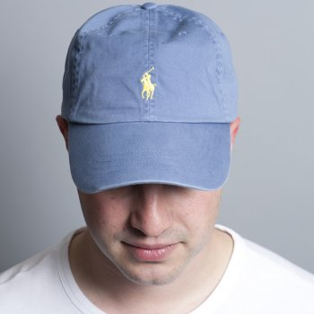 8ee6467b8fb7 Polo Ralph Lauren Carson Blue   India Yellow Multi Fit Classic Sport  Baseball Cap
