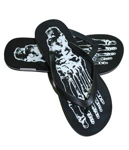 Buy Brave Soul skeleton black flip-flops